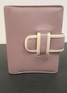 Compact Franklin Covey Leather Binder Light Purple 1 Rings