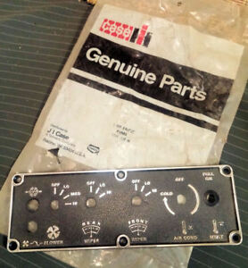 Case 580b Other Backhoe Panel Face Plate plastic F44727 Nos Genuine Part