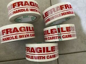Usa 5 Rolls Fragile 2 X 110 Yds pro Heavy Duty Durable Packing Tape