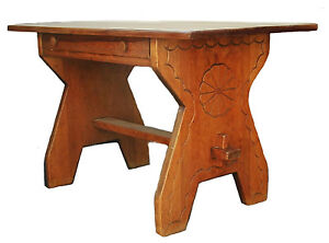 9th Annual Nuyrssale New Mexico Furniture Peggy Pond Church Desk Carved 30 Taos