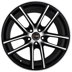 4 Gwg Zero 18 Inch Staggered Black Machined Rims Fits Ford Mustang 2005 2014