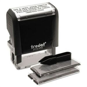Self inking Do It Yourself Message Stamp 3 4 X 1 7 8 X 2