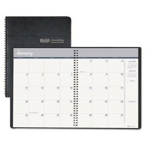 24 month Ruled Monthly Planner 8 1 2 X 11 Black 2014 2015 2 Pack