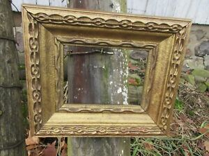 Antique Vintage Victorian Wooden Gold Gilded Gesso Picture Frame 6 X 8
