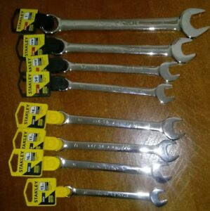 Stanley Combination Wrench Metric Sae Lot Set 13 16 17 18mm 1 13 16 11 16 5 8