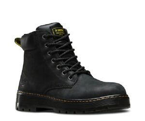 New Mens Us Size 9 11 Doc Dr Martens Winch St Steel Safety Black Eh Work Boot