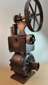 Antique Pelton Crane Dental Air Compressor 1920 s 30 s Cast Iron