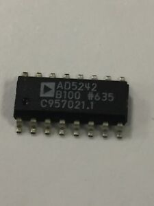 Ad5242b100 Digital Potentiometer 100k 256 position 2 channel Serial 2 Qty 48
