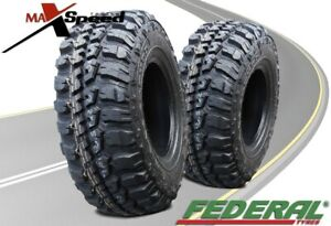 Qty Of 2 Federal Couragia M T 33x12 50r15 108q 6ply Mt All Terrain Mud Tires
