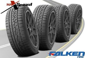 qty Of 4 Falken Ziex Ze 950 A s 195 50r15 82h Blk All Season Performance Tires