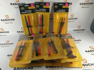 New Authentic Fluke Ac220 Suregrip Alligator Clips Retail Package