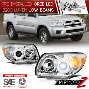 Cree Led Bulb Installed 06 09 Toyota 4runner Chrome Replacement Headlight Lamp