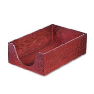 Hardwood Legal Stackable Desk Tray Mahogany