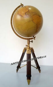 Vintage Style World Nautical Globe 12 Table Top Mini Bar With Tripod Stand