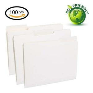File Folders Letter Size 1 3 Cut Tab Assorted Position White 100 Per Box