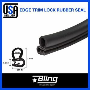 20ft Auto Parts Black Rubber Seal Trim Weather Stripping Car Door Edge Protector