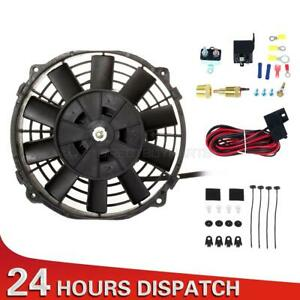 7 Universal Electric Radiator Cooling Fan 200 Degree Thermostat Wire Kit