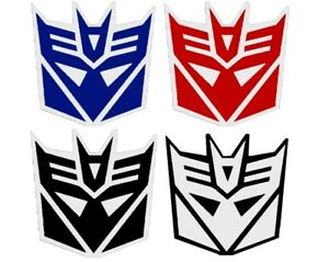 Sticker Vinyl Decal 3m Red Blue Reflective Transformers Autobots Decepticons