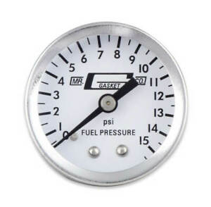 Mr Gasket Fuel Pressure Gauge 1561 Fuel Pressure 0 To 15 Psi 1 1 2 Full Sweep