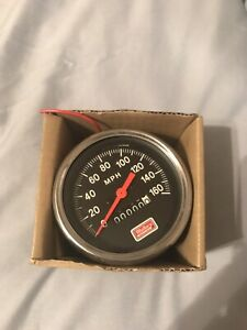Vintage Mallory Ignition 3 1 4 0 160 Mph Speedometer Free Shipping New