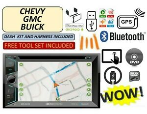 Fits Chevy Gmc Truck Van Suv Dvd Aux Bluetooth Radio Stereo Gps Touchscreen