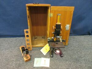 Bausch Lomb Optical Antique Microscope 204114 1928 2 Objective Vintage