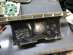 80 86 Ford Truck Bronco Speedometer Tach Gauge Instrument Cluster Bezel Manual 2