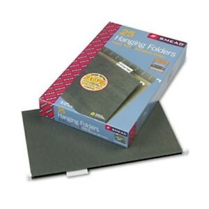 Hanging File Folders 1 5 Tab 11 Point Stock Legal Green 25 box 3 Pack
