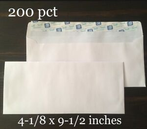 200 Ct 10 Self seal Security Mailing Envelopes White Letter 4 1 8 X 9 1 2