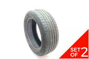 Set Of 2 Used 205 55r16 Michelin Premier As 91h 6 5 32