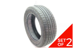 Set Of 2 Used 205 55r16 Michelin Premier A S 91h 7 5 32