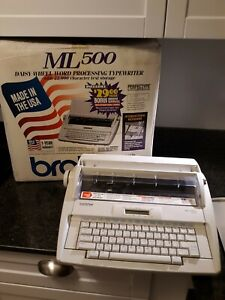 Brother Ml500 Electric Daisy Wheel Word Processor Typewriter