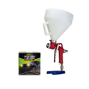 Bully 1 Gallon Bed Liner And Textured Gravity Spray Gun 3 Nozzles Hopper Combo