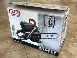 New Ics Concrete Pipe 16 Gas Chain Saw 695 Xl F4 Sweden With Chain Bar