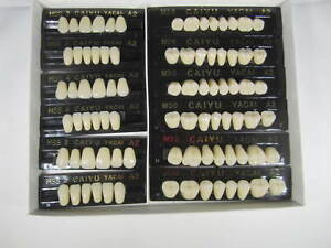 3 Sets Acrylic Denture Teeth A2 Size Large Medium Small In One Box Total 84