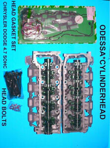 Pair Jeep Chrysler Dodge 4 7 Sohc Cylinder Heads 05 07 Gaskets Bolts No Core