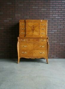 Tall Chest Of Drawers French Style Highboy Dresser Antique Highboy