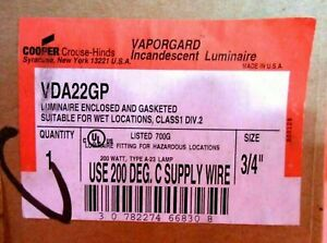 Crouse Hinds Vda22gp vaporproof Light Fixture 3 4 New Other Globes Available