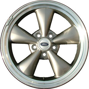 Chrome Plated 5 Funnel Spoke 17x8 Factory Wheel 2005 2009 Ford Mustang
