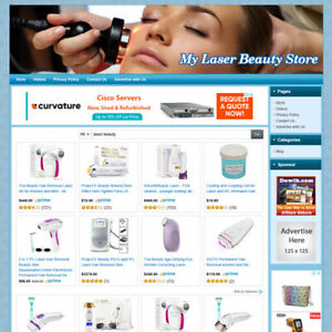 Laser Beauty Care Store Online Business Website For Sale Make Money From Home