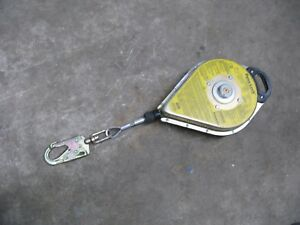 Dyna lock Self Retracting Lanyard Galvanized Wire Rope 400lb