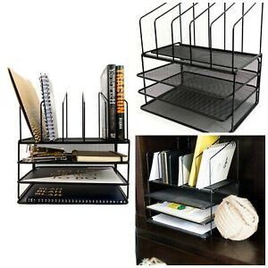 Desk Organizers Office Supplies Accessories Mail Organizer Tray Wire Steel Mesh
