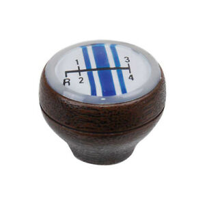 Ford Mustang Manual Transmission Floor Shift Knob 4 Speed Dark Walnut Wood