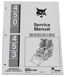 Bobcat 450 453 Skid Steer Service Manual Shop Repair Book Part 6724259
