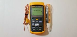 Fluke 53 Ii Dual input Digital Thermometer With One Probe Tp 224158