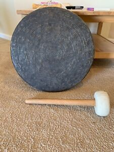 Antique Chinese Gong With Beater 18 Inches