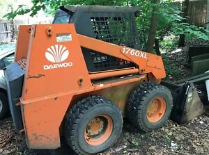 2000 Daewoo 1760xl Skid steer Loader Perkins 700 4 Cylinder Engine 870 Hrs