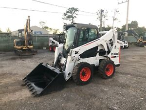 2013 Bobcat S650 Enclosed Cab Kubota Engine Auxiliary Hydraulics Quick Att
