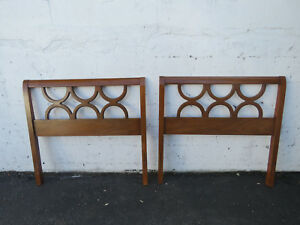 Mid Century Modern Pair Of Twin Size Headboards By Dixie 9299