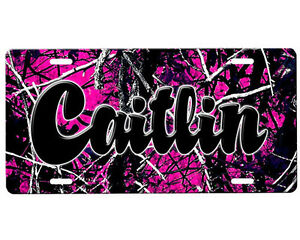 Pink Camouflage License Plate